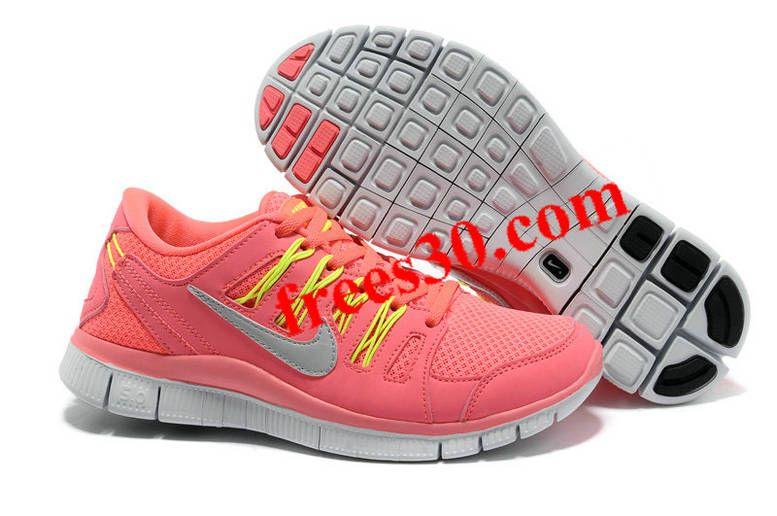 Womens Nike Free Run 4 Hot Punch Electric Yellow Shoes
