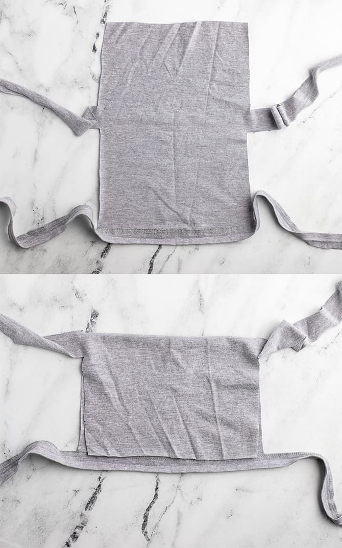 Photo of How to fold a t shirt to make a no-sew face mask.