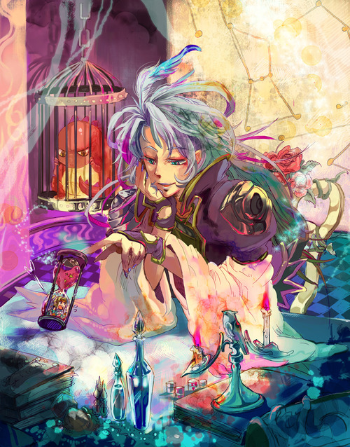 FF9 Art Kuja In The Desert Palace