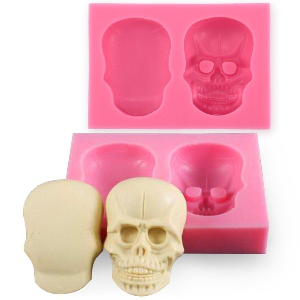 3D Skull Silicone Mold Fondant Sugar – Products