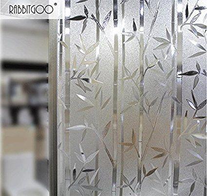 Rabbitgoo Film Intimite Pour Vitre Statique Decoratif Film Adhesif Fenetre Vitrage Autocollant 90 Cm 200 Design Vitrail Fenetre Givree Film Adhesif Fenetre