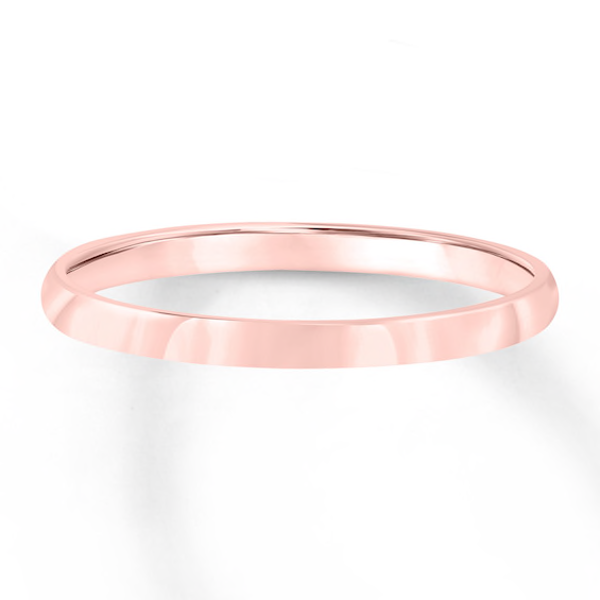 Wedding Band 10k Rose Gold 3mm In 2020 Wedding Bands Womens Wedding Bands Rose Gold