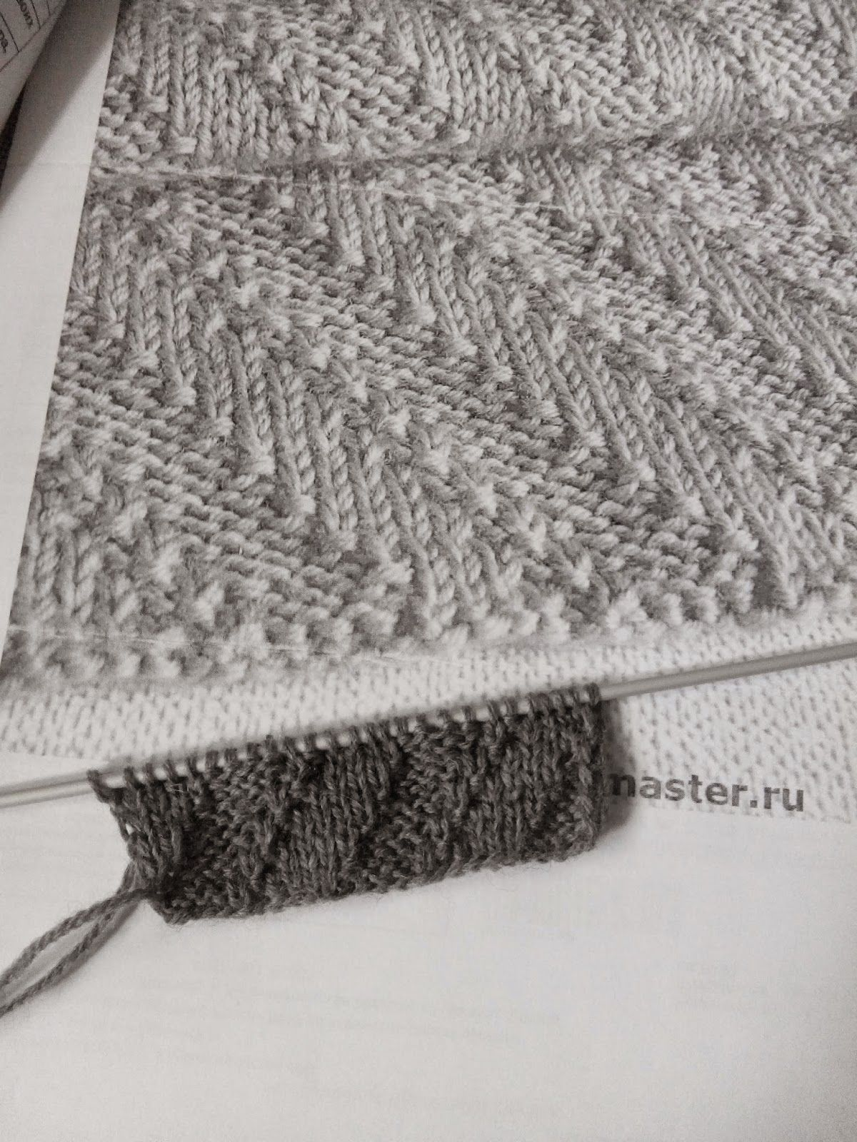связать мужской шарф спицами схемы и фото
