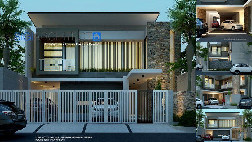 Desain Rumah Kost Ekslusif 2 Rumah Desain Rumah Arsitektur