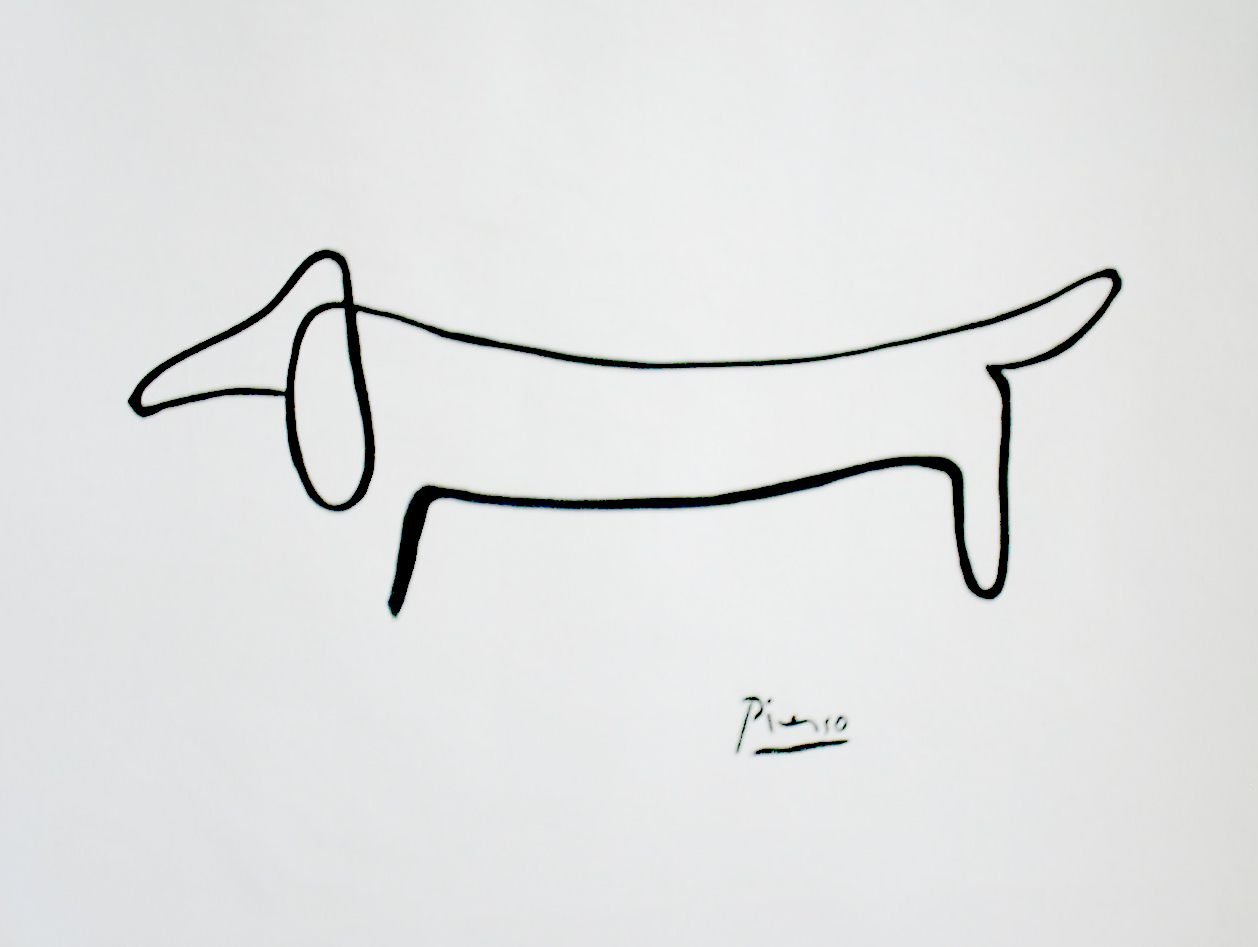 Picasso Line Drawing Tattoo : Dachshund tattoo designs cliparts wanted