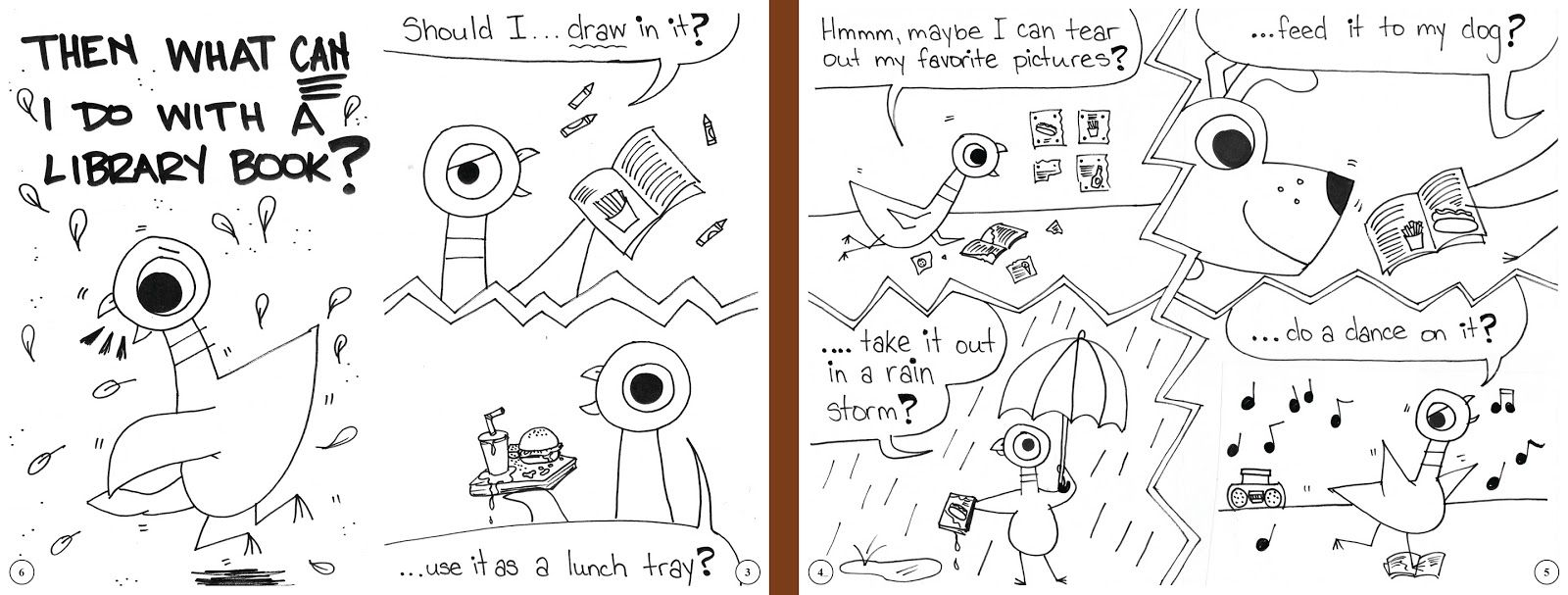 Don T Let The Pigeon Ruin The Library Book Printable Coloring