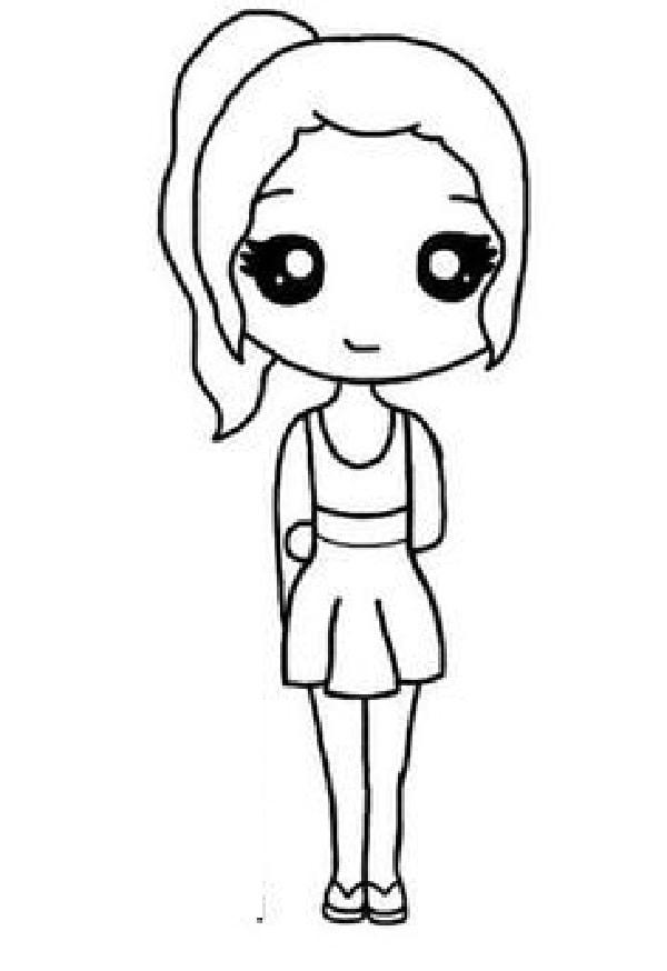 Simple Cartoon Girl : simple, cartoon, Ideas, Before, Choose, Cartoon, Girl., Cartoon,, Anime, Drawing,, Drawings