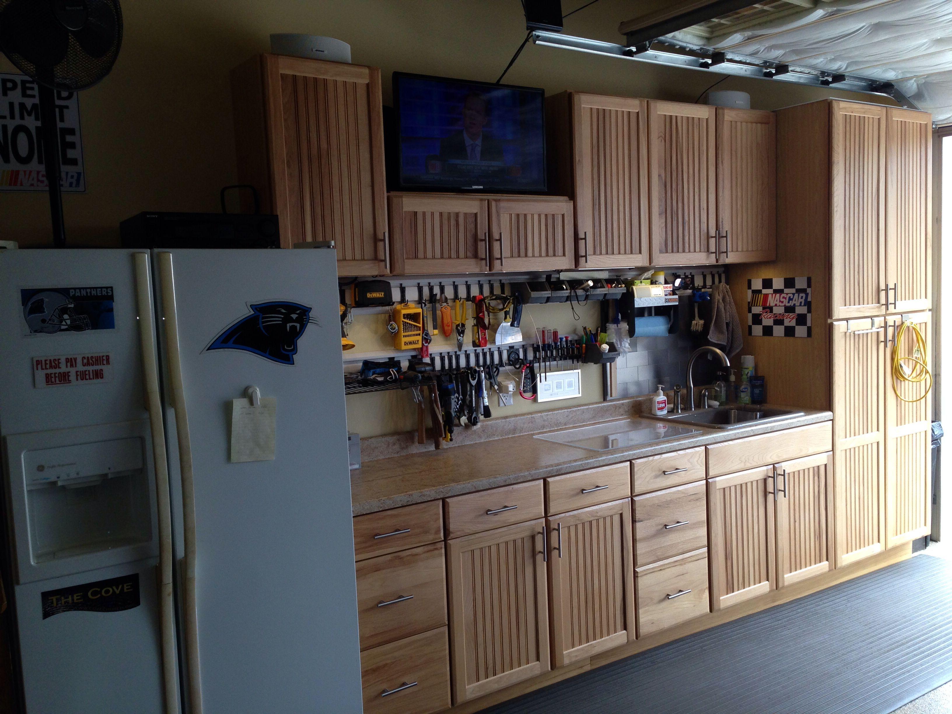 Garage | Kitchen cabinets, Garage storage, Home decor