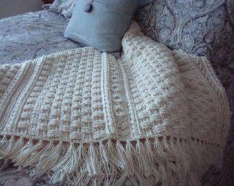 Knitting Pattern: Twisty Celtic Aran Afghan, Fisherman ...