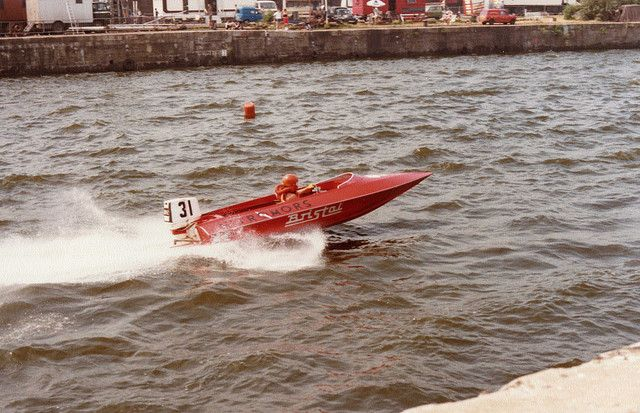 Power Boat Racing At Bristol City Docks Bs1 1982 The Course Was So