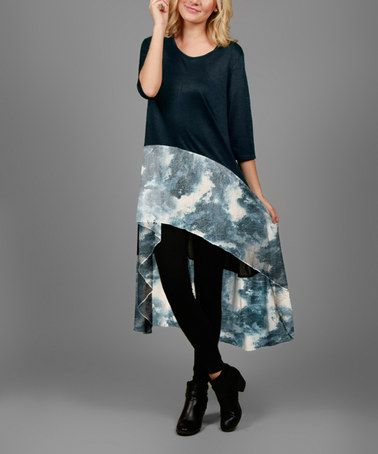 This Blue Abstract Hi-Low Tunic is perfect! #zulilyfinds