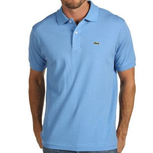 dd9997abd MENS LACOSTE CLASSIC POLO SHIRT SKY BLUE L1212  DealzSmart