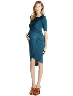 5814d1d6a2378 Motherhood Maternity Jessica Simpson 3/4 Sleeve Ruched Maternity Dress