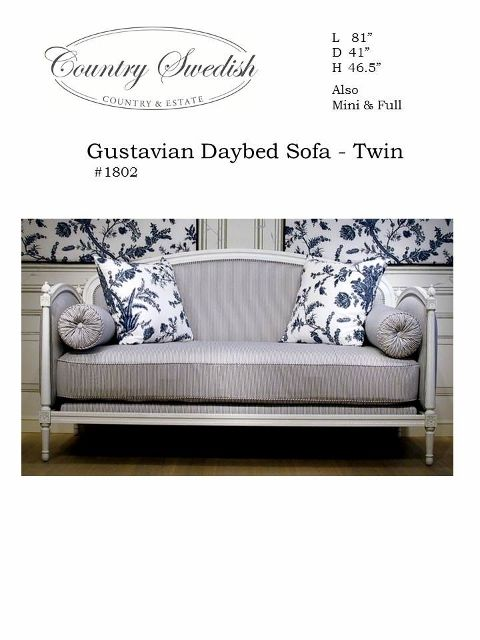 Gustavian Daybed Sofa Twin Would wheels and drawers under ruin it