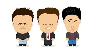 Friends: Matt LeBlanc, Matthew Perry, David Schwimmer.