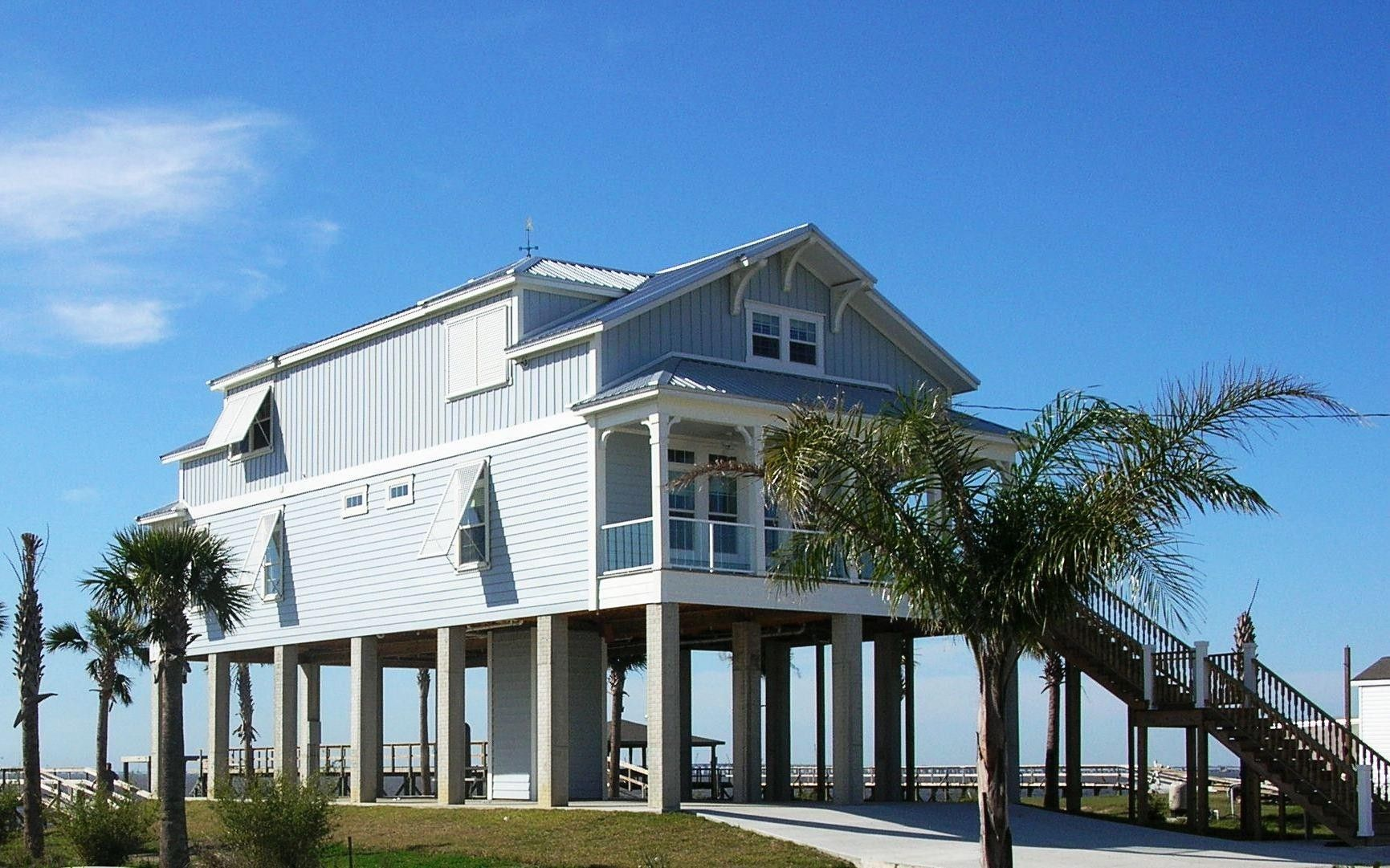 Beautiful Home On Stilts House On Stilts Beach House Design Beach House Plans