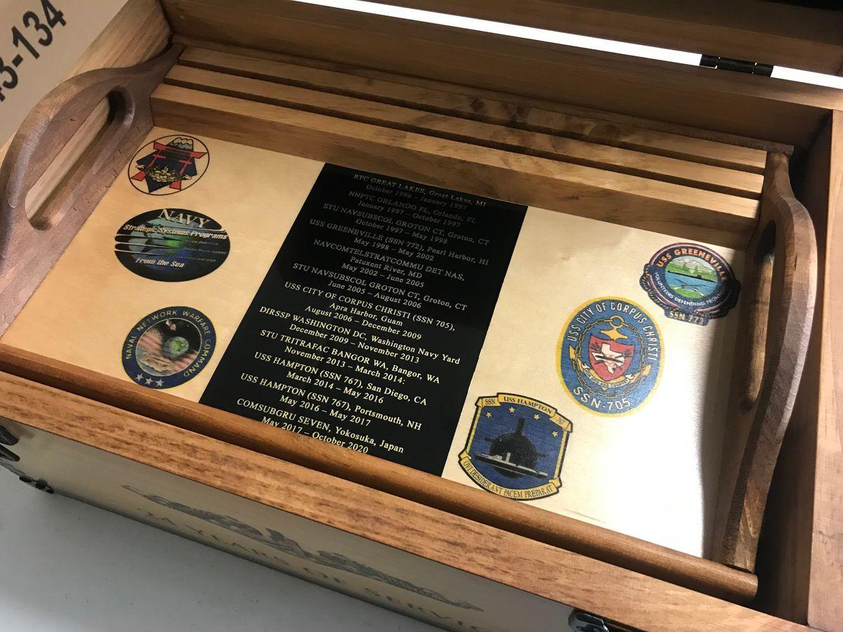 Custom Military Retirement Keepsake Shadow Box Shadow