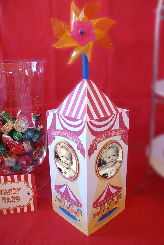 Carnival Circus themed Centerpiece | Circo