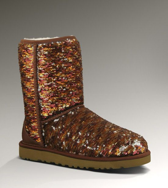 Women's Classic Short Sparkles By UGG Australia. These comes in orange and brown sequins for fall, blue and silver for winter, and green and red for ...