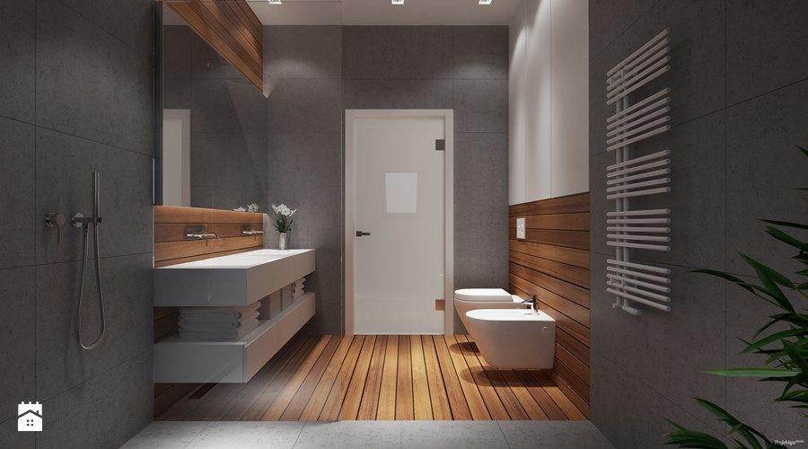 Projekt wnętrz 58m2. Pleśna - Średnia łazienka w bloku bez okna, styl nowoczesny - zdjęcie od PROJEKTYW   Architektura Wnętrz & Design