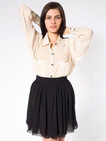 I really want this chiffon skirt. $42
