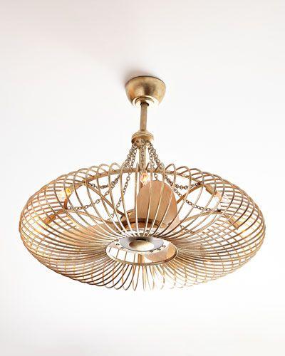 Ceiling Fan Pendant Light Hb82k John Richard Collection Ribbons Of Silver 8 Light Brass Ceiling Fan Fan Light Pendant Lighting