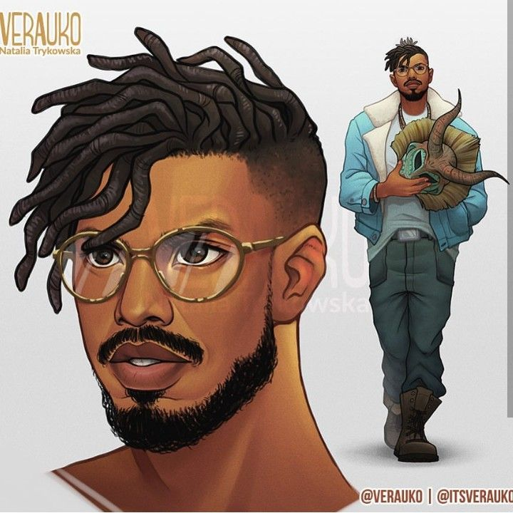 whoever drew this did an amazing job recreating erik killmonger aka michael b african black. Black Bedroom Furniture Sets. Home Design Ideas