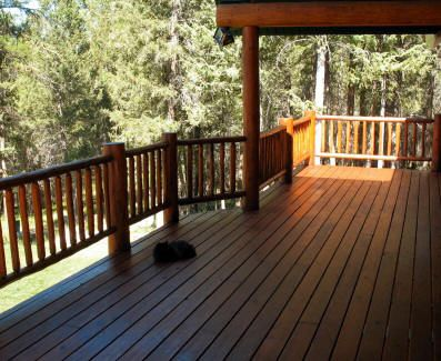 Log Home Deck Refinished