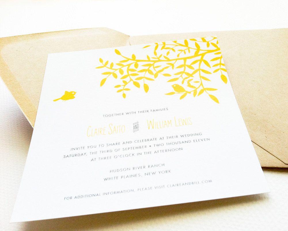 yellow navy wedding invitation - Google Search | Yellow blue ...
