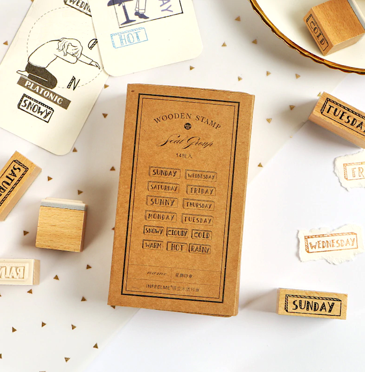 Days Of The Week Wooden Stamps Our Stationery Stamp