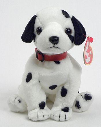 Dizzy Black Ears Black Spots Dog Ty Beanie Babies Soft