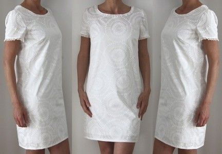 3700bbb082 Patron de couture - Robe blanche pour femme | coutures | Patron ...