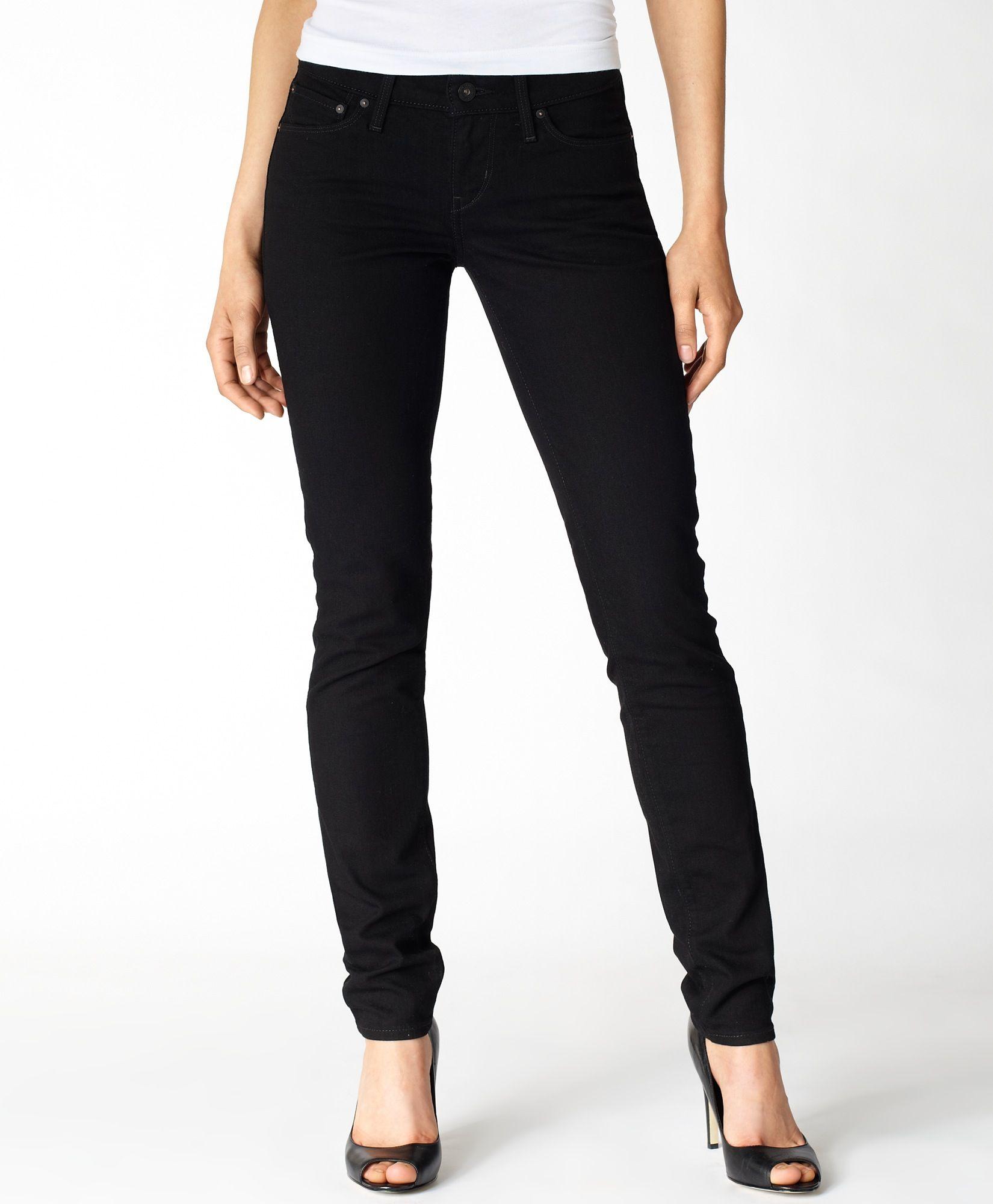 Levi high rise demi curve skinny jeans