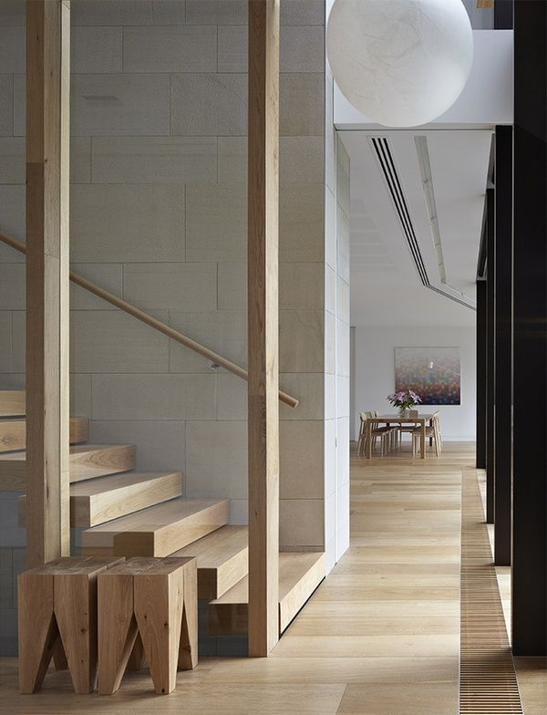stripped down stairs and floors - shrouded house | inarc architects
