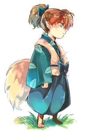 El Zorrito Shippo Anime Inuyasha Dibujos Inuyasha Y