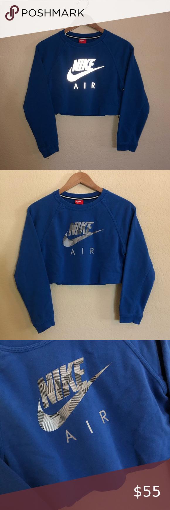 Nike Air Reflective Crop Top Sweatshirt Crop Top Sweatshirt Sweatshirt Tops Sweatshirts [ 1740 x 580 Pixel ]