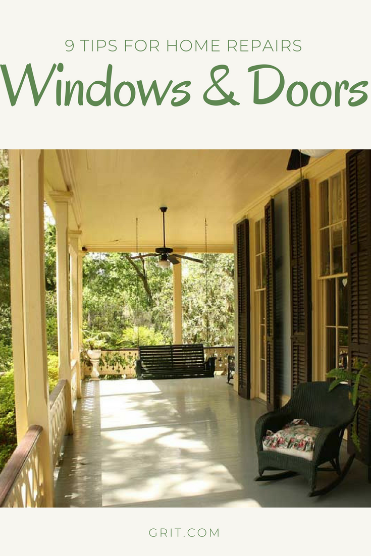 Repair Your Doors And Windows Grit Patio Building A Porch Cool Deck