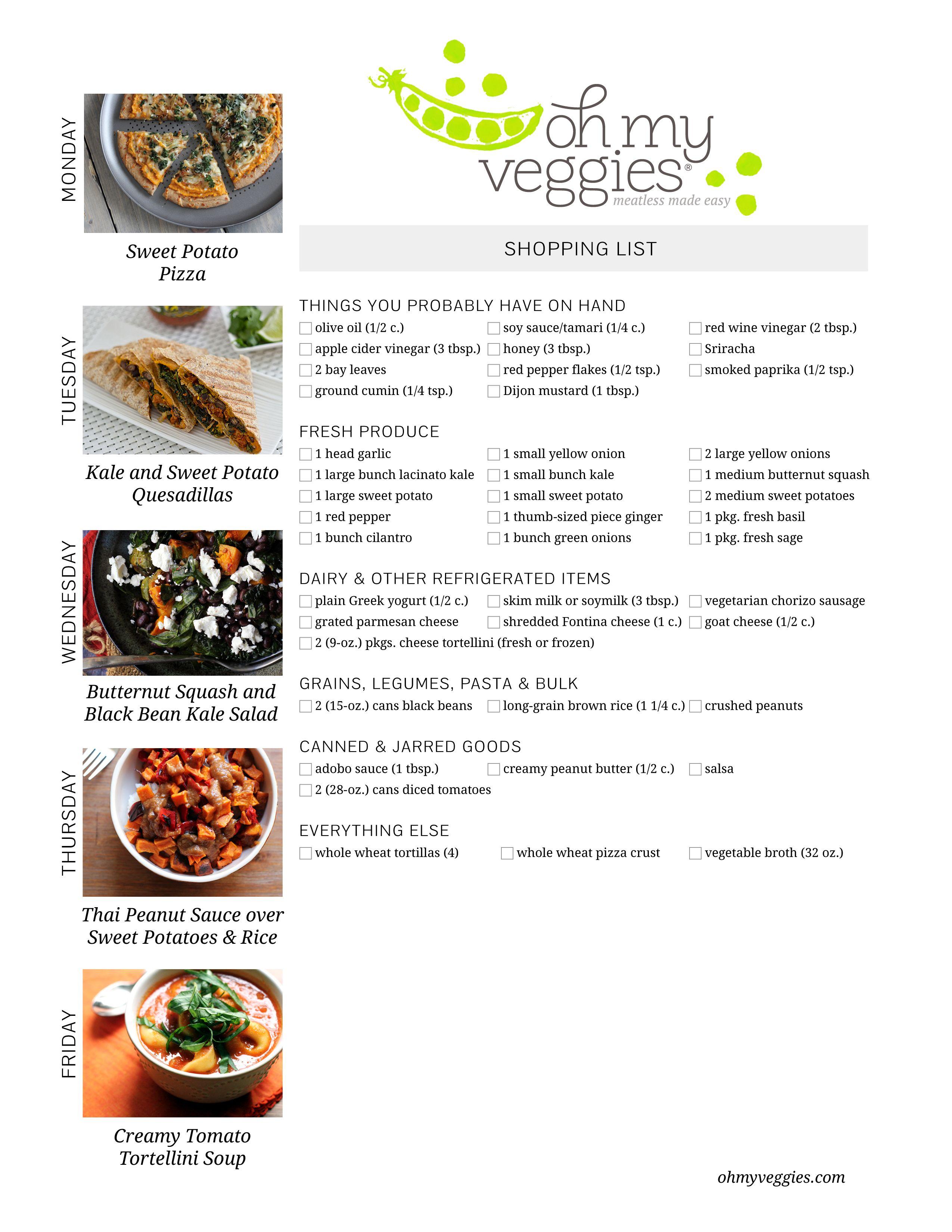 This Week's Meatless Meal Plan | Meatless dinner ideas, Stir fry ...