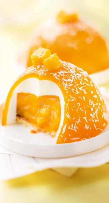 Le Dôme Exotique Senoble Desserts Premium Recettes De Cuisine Gâteau Mousse à La Mangue Desserts Fantaisie
