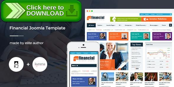 Free Nulled Financial Responsive Joomla News Template Download