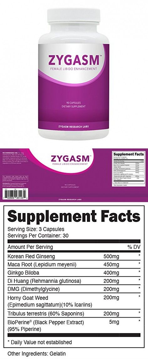 Zygasm - Best Female Libido Booster - All-Natural Enhancement Supplement  For Women (90 Caps)
