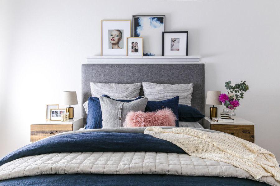 dormitorio-theinteriorsaddict-03 Home Pinterest Navy blue