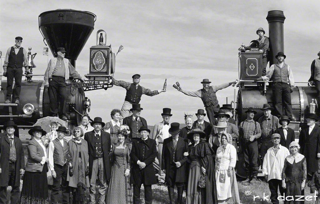 Driving of the Golden Spike, Promontory Point, Utah. May 10, 1869 ...