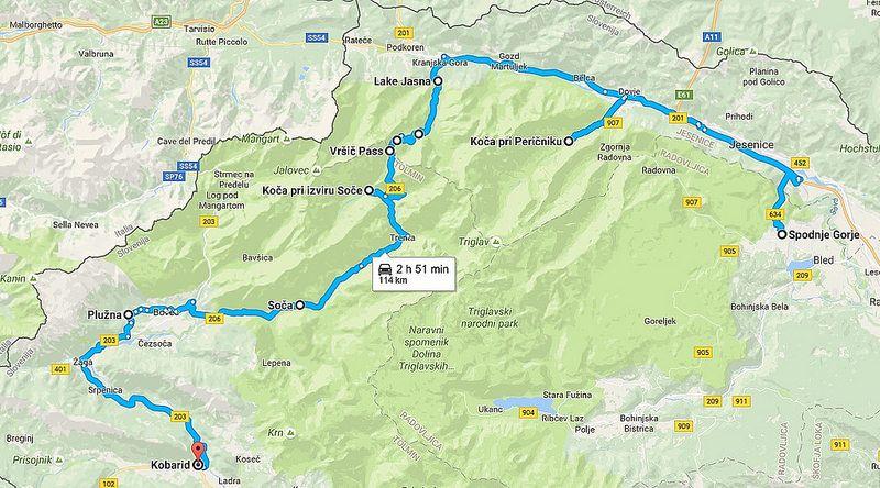 Switzerland /& Slovenia Road Map Austria
