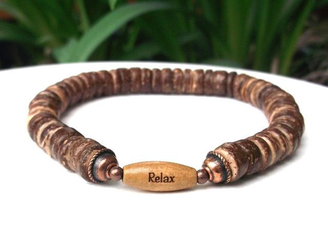 Men S Casual Bracelet With A Reminder To Relax Bluestoneriver