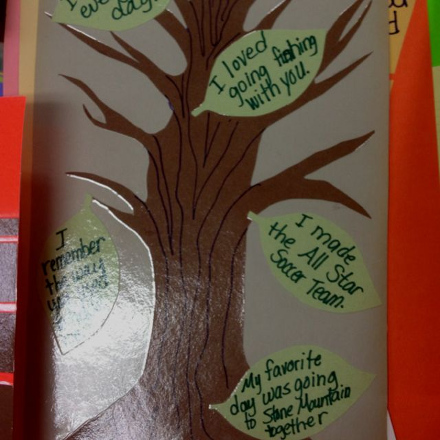 Memory Tree - Loss --- Thinking of doing this at school for the students to add their commentary.