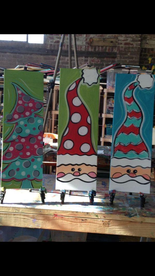 DIY Painting Idea Santa By Gabrielle