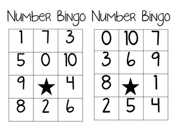 Number Bingo (0-10) | Number recognition, Simple addition and ...