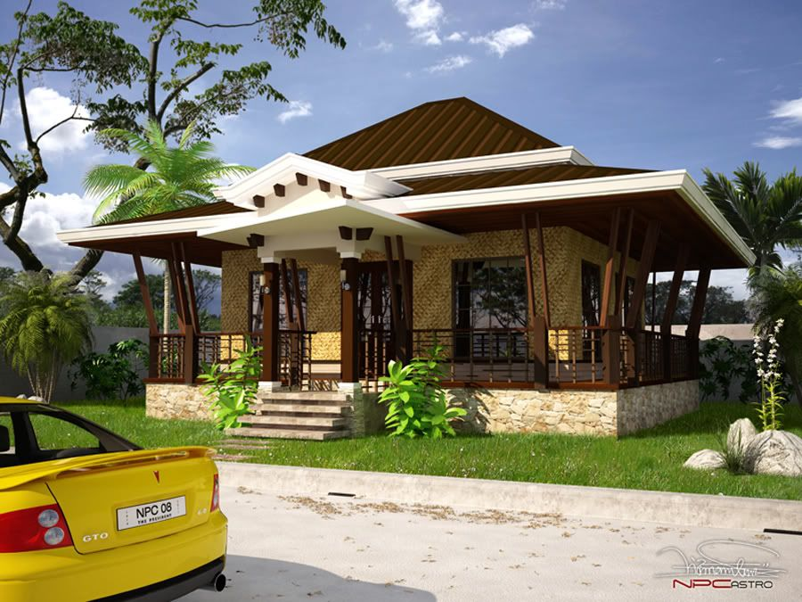 Modern Bahay Kubo House Plan House Design Plans