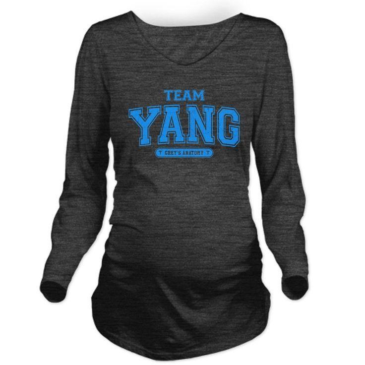 230584ef633 Grey s Anatomy Team Yang Long Sleeve Maternity T-Shirt. Women s ...